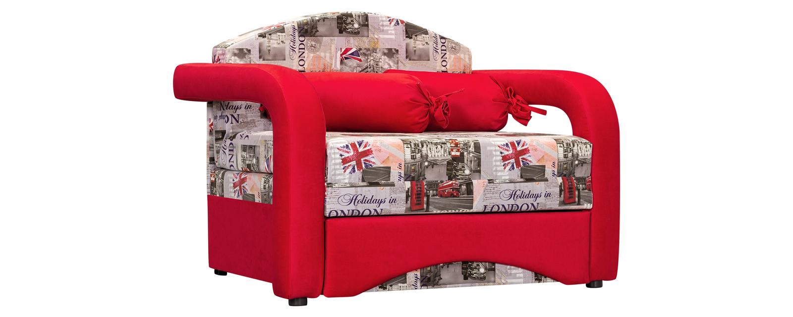 Кресло тканевое Эдем Soho красный (Ткань)