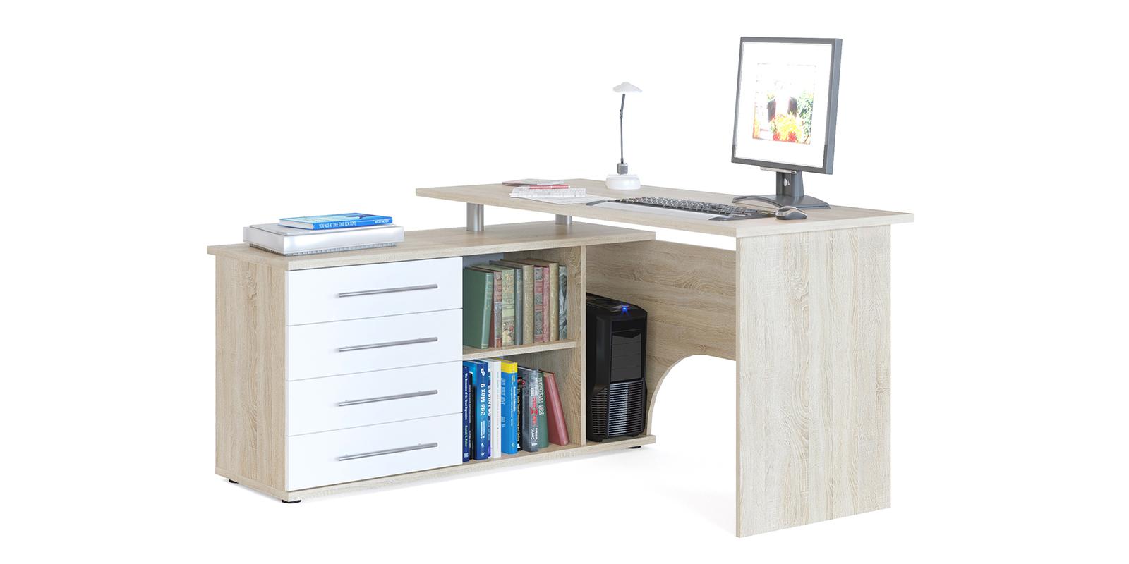 Стол компьютерный HomeMe Сноу AFU0096000