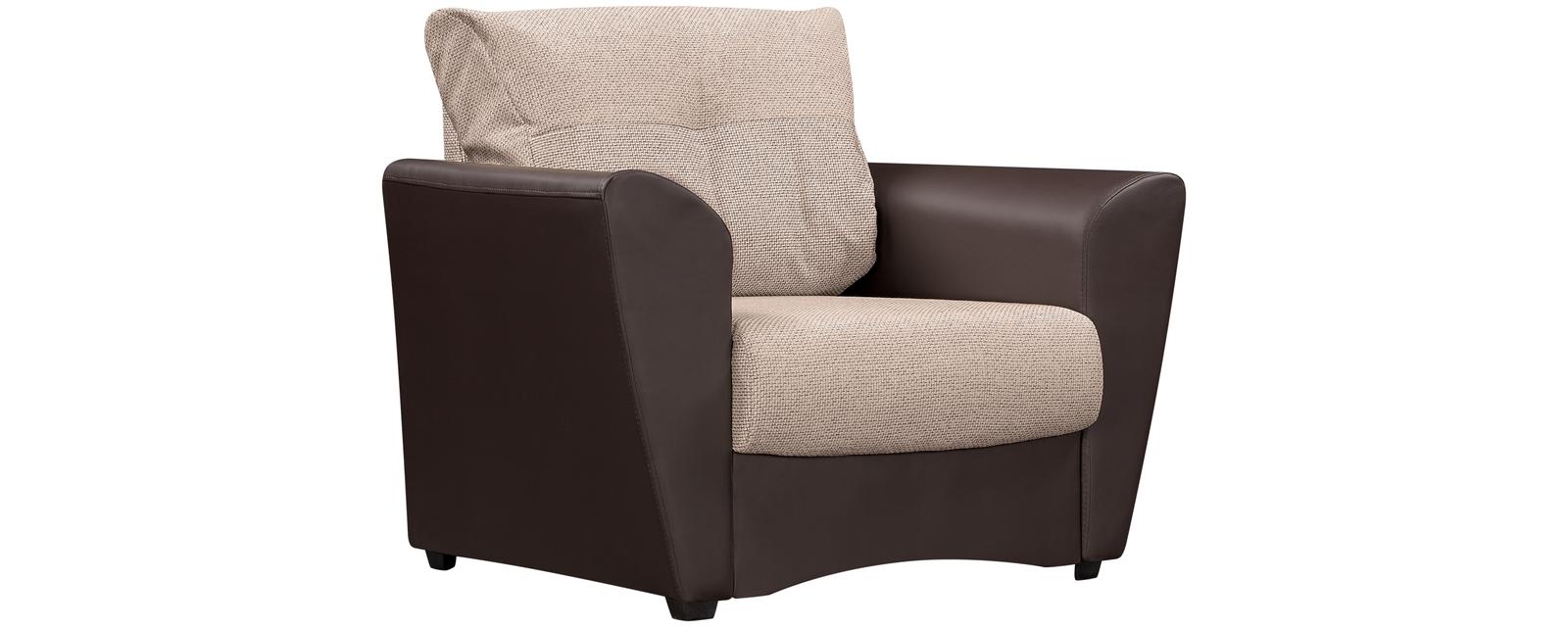 Кресло тканевое Амстердам Sola бежевый (Ткань + Экокожа)