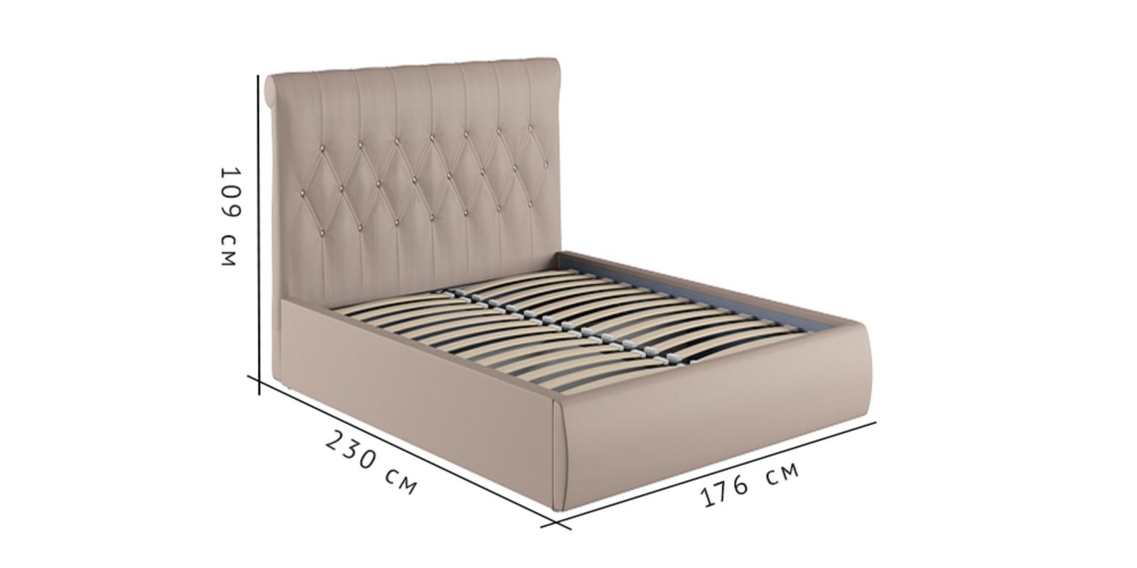 Кровать мягкая Тиффани с подъемным механизмом (Бежевый)