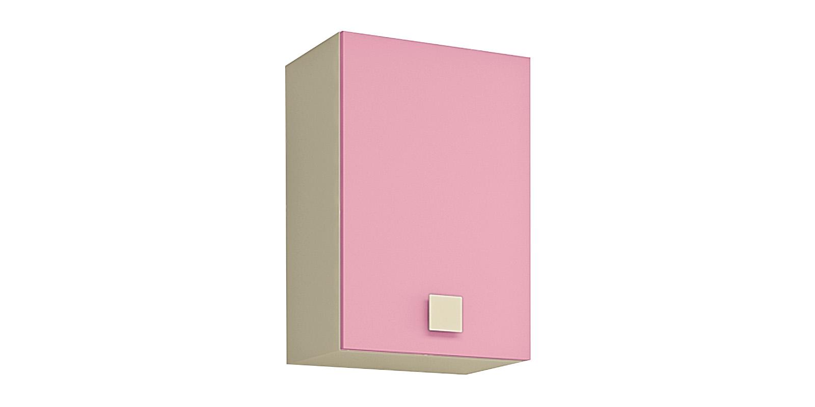 Шкаф навесной Нова (бежевый/розовый)