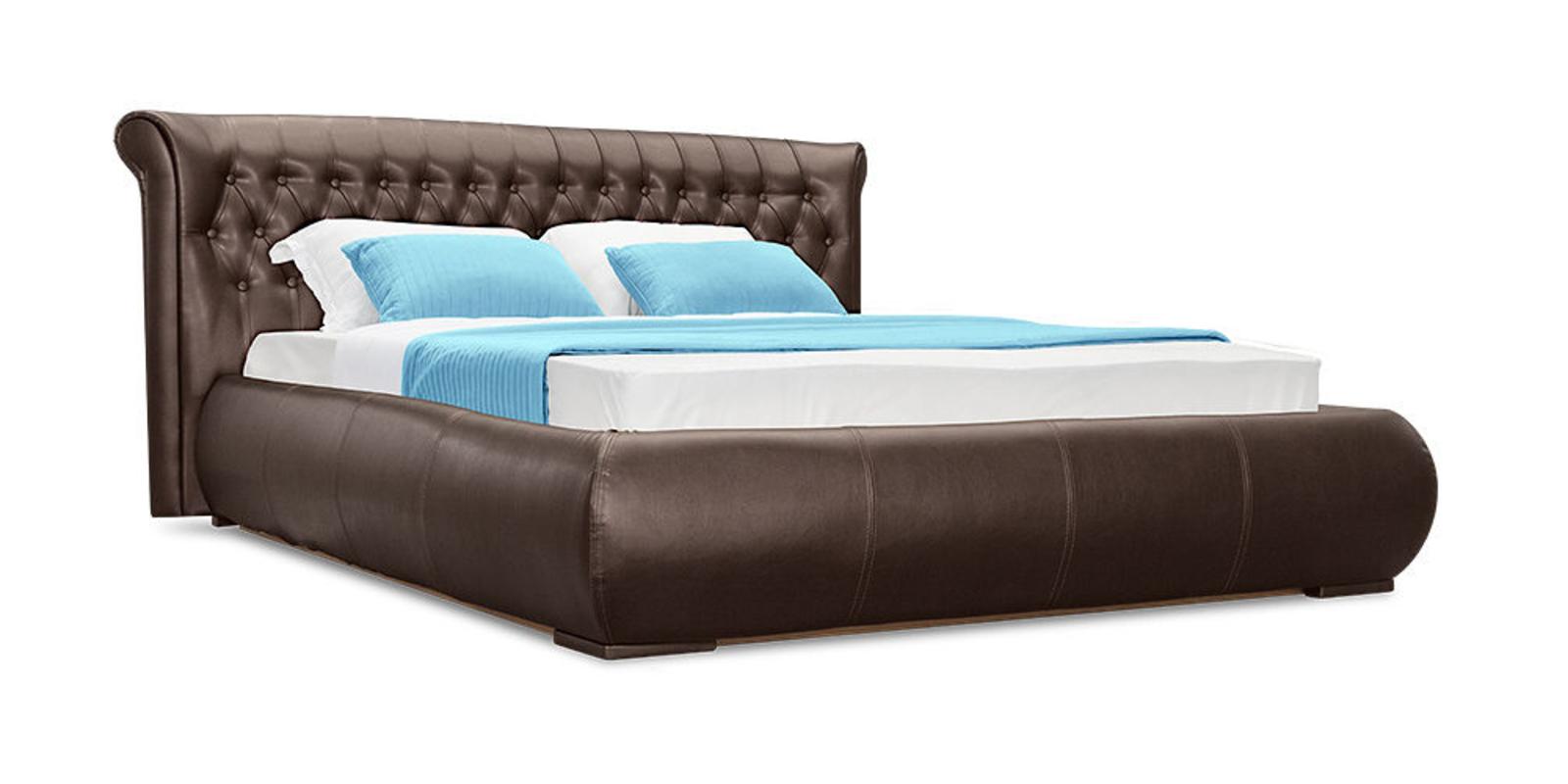 Кровать мягкая Вирджиния с подъемным механизмом (Шоколад)