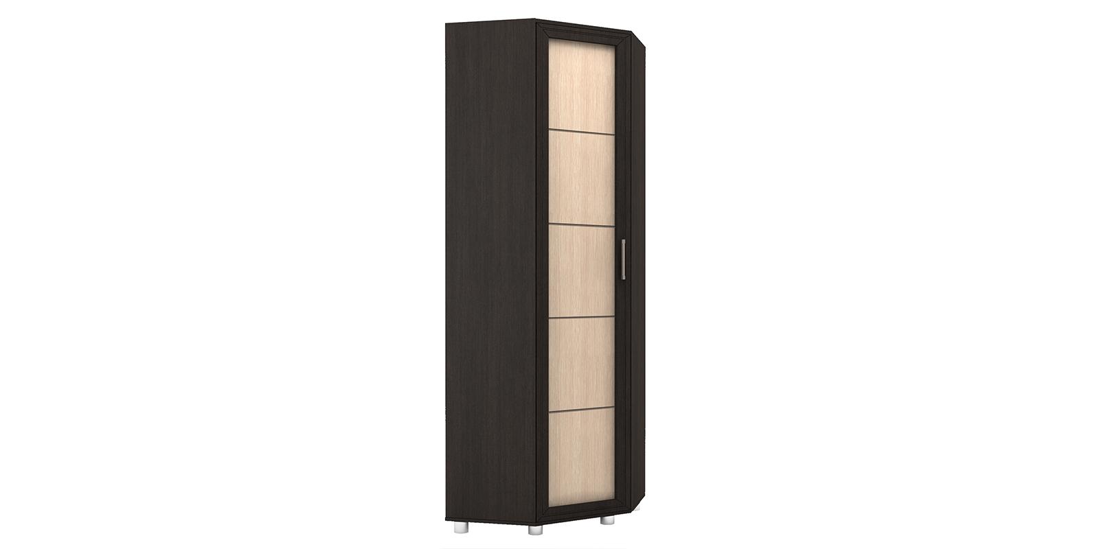 Шкаф распашной угловой Лестер вариант №1 (коричневый/бежевый)