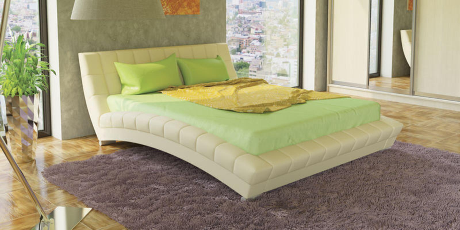 Кровать мягкая Оливия с ортопедическим основанием (Белый)
