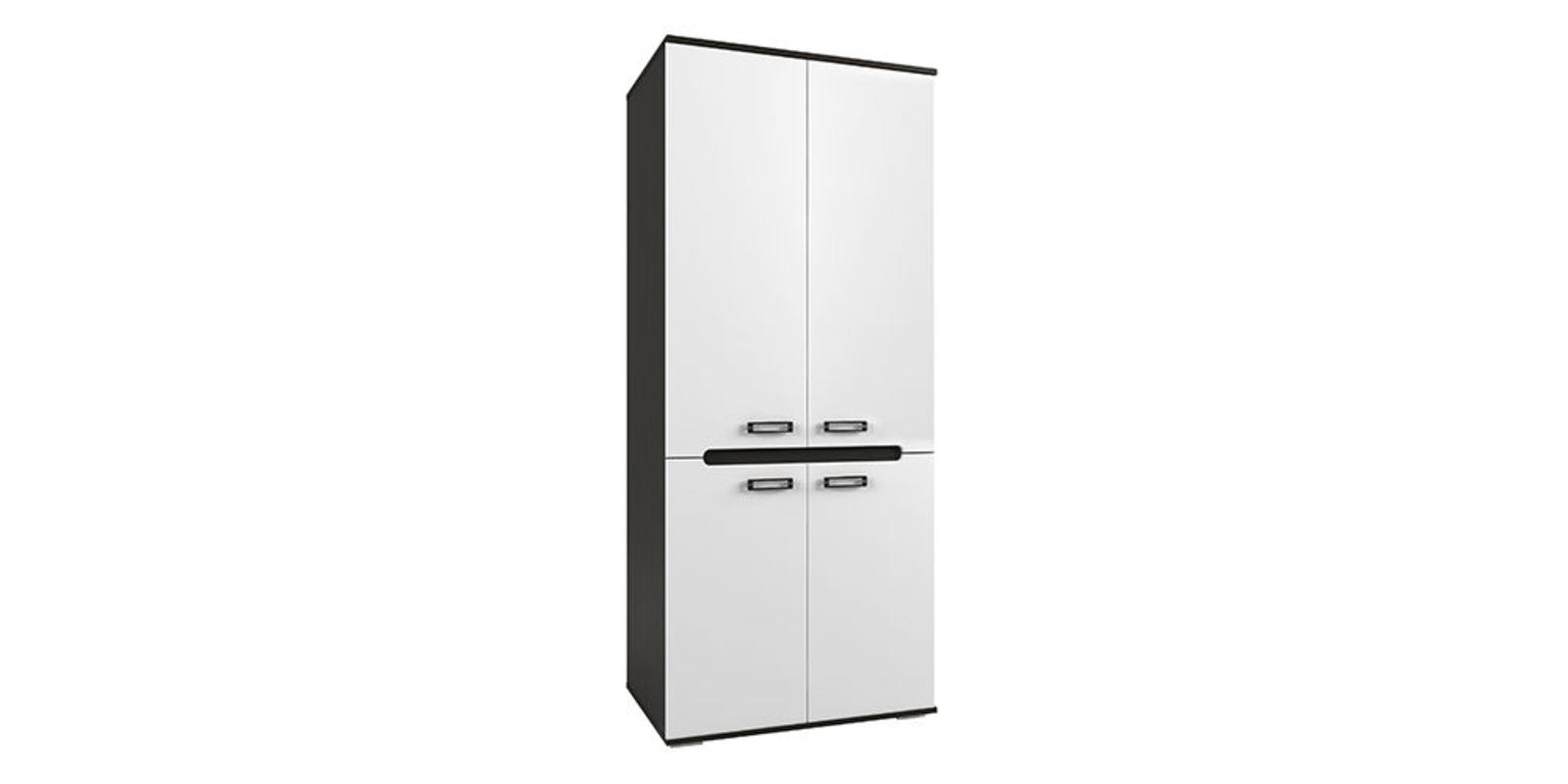 Шкаф распашной двухдверный Виго вариант №2 (венге/белый глянец)