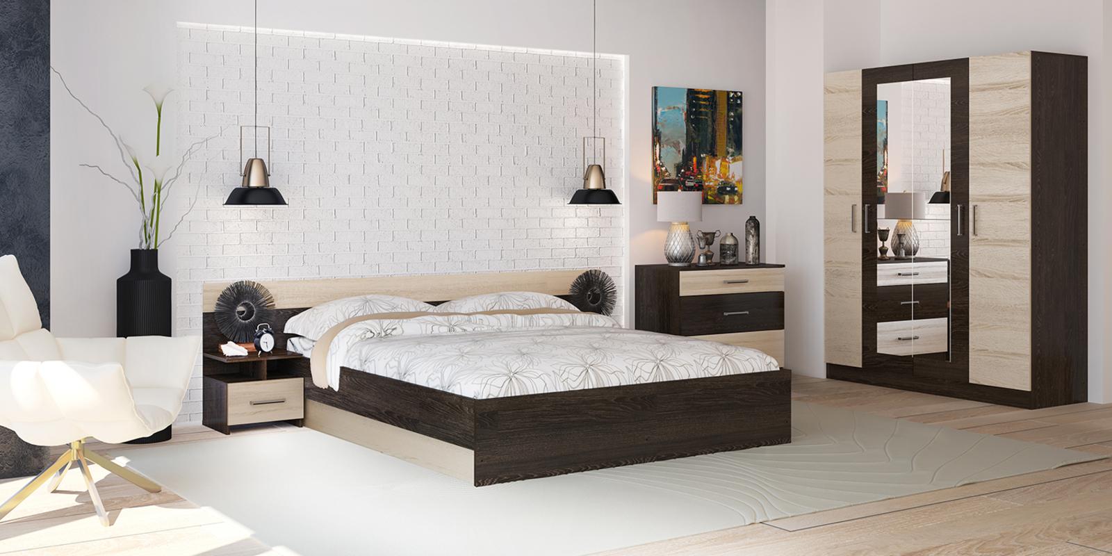 Спальня Валенсия (дуб кантерберри/дуб сонома)