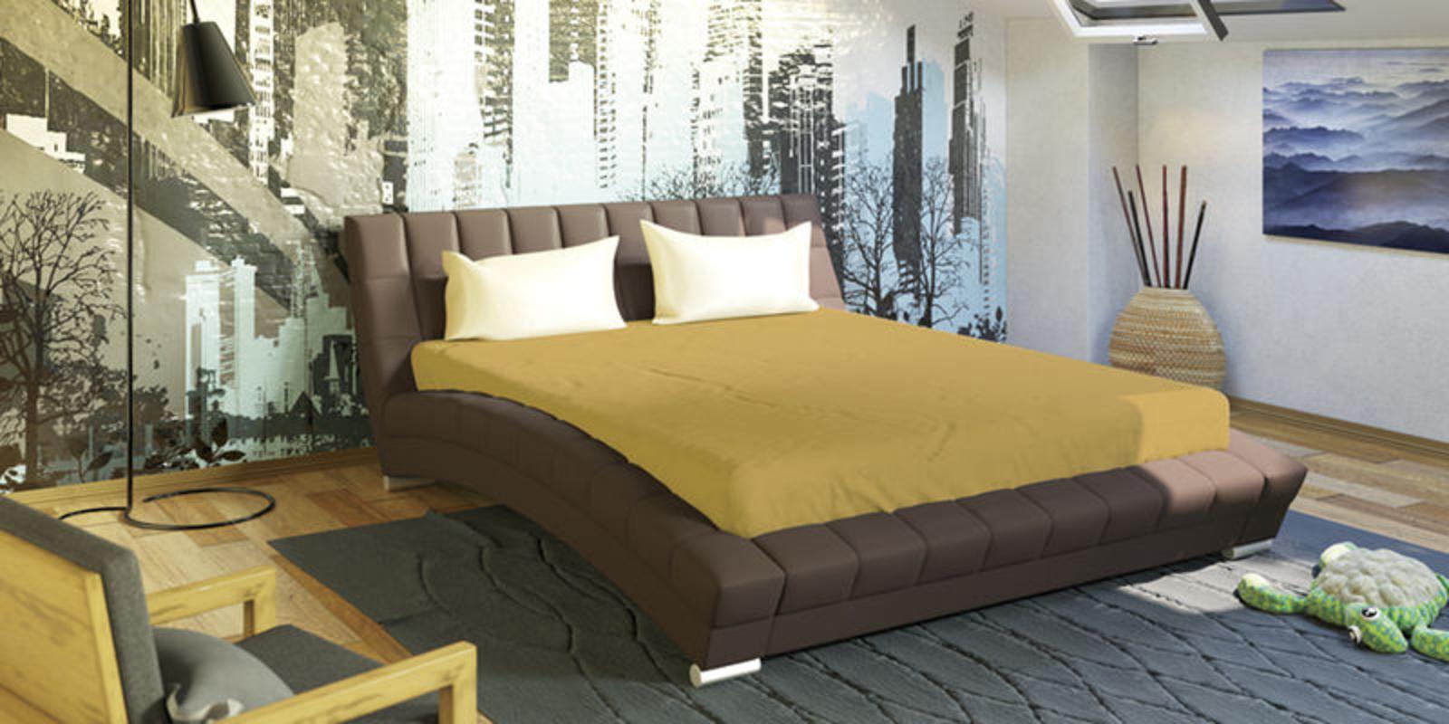 Кровать мягкая Оливия с ортопедическим основанием (Коричневый)