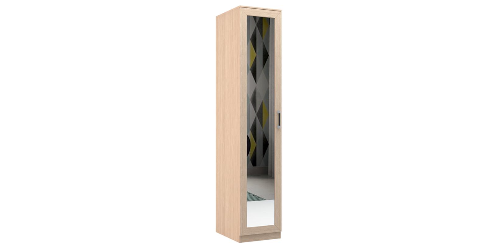 Шкаф распашной однодверный Дельта (дуб белфорт/зеркало)