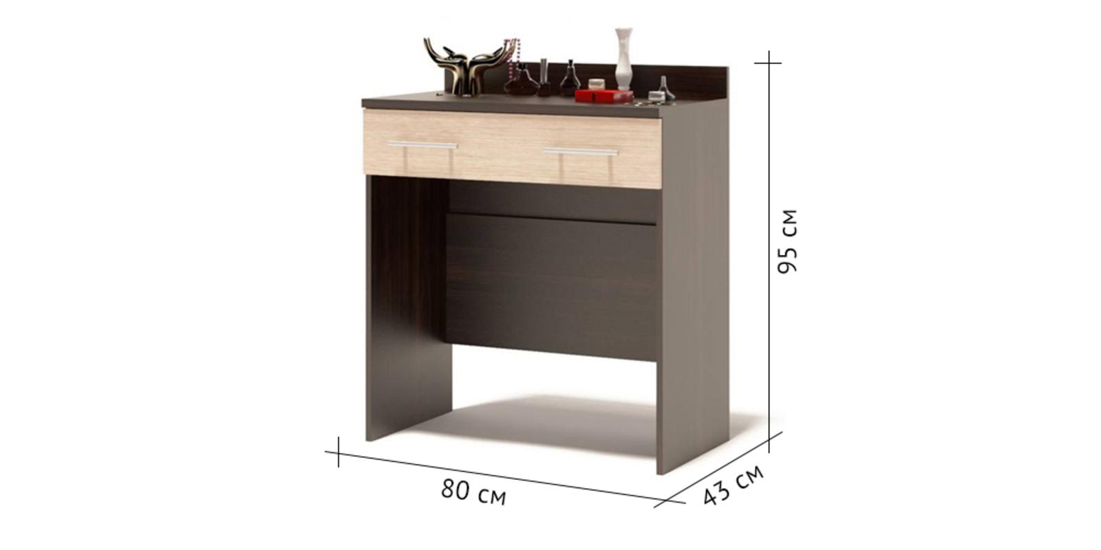 Столик туалетный Поло (венге/беленый дуб) от HomeMe.ru