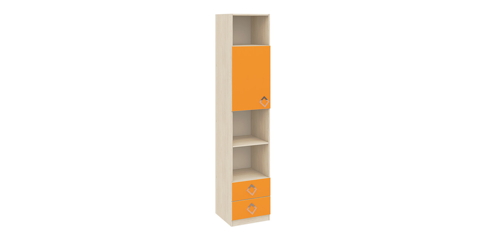 Шкаф распашной однодверный Салоу вариант №1 (каттхилт/манго)