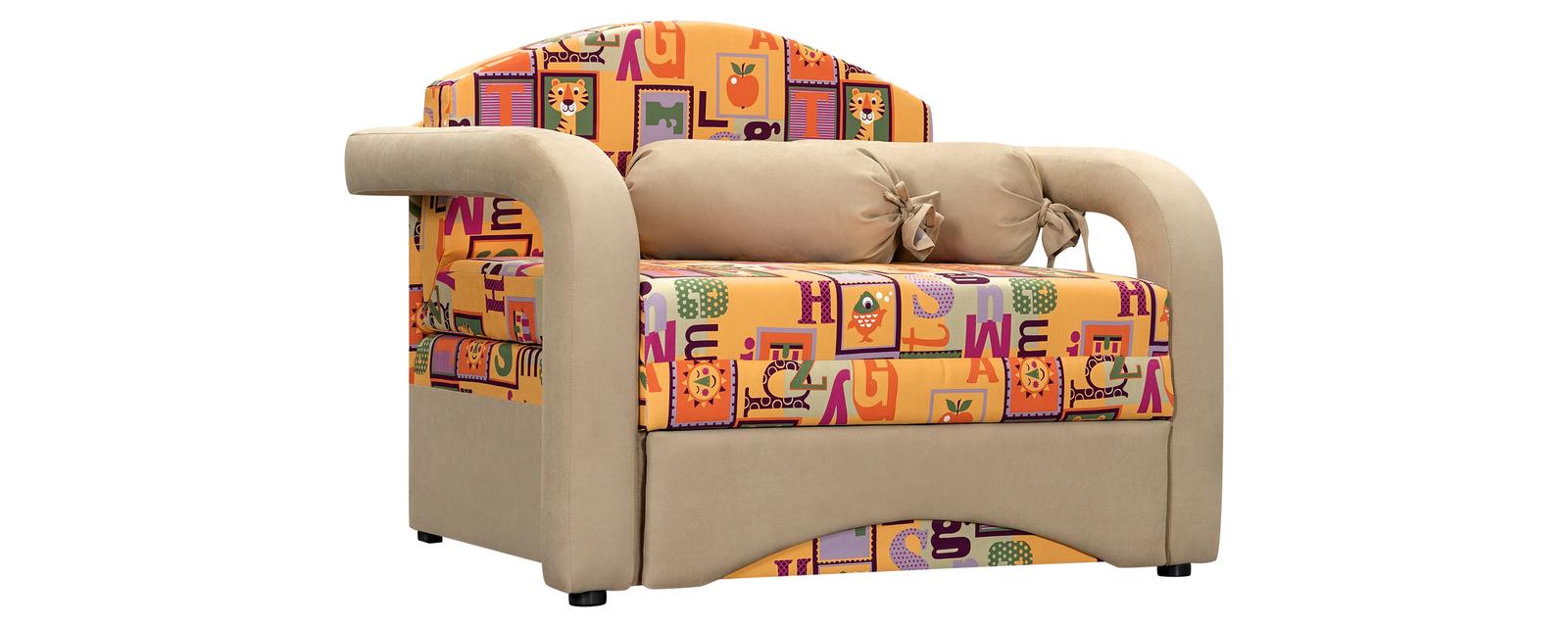Кресло тканевое Эдем Cubik желтый (Ткань)