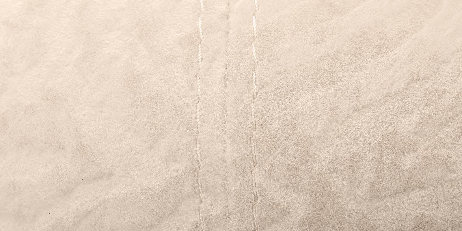 Диван тканевый прямой Ланкастер Soft бежевый (Флок + Экокожа)