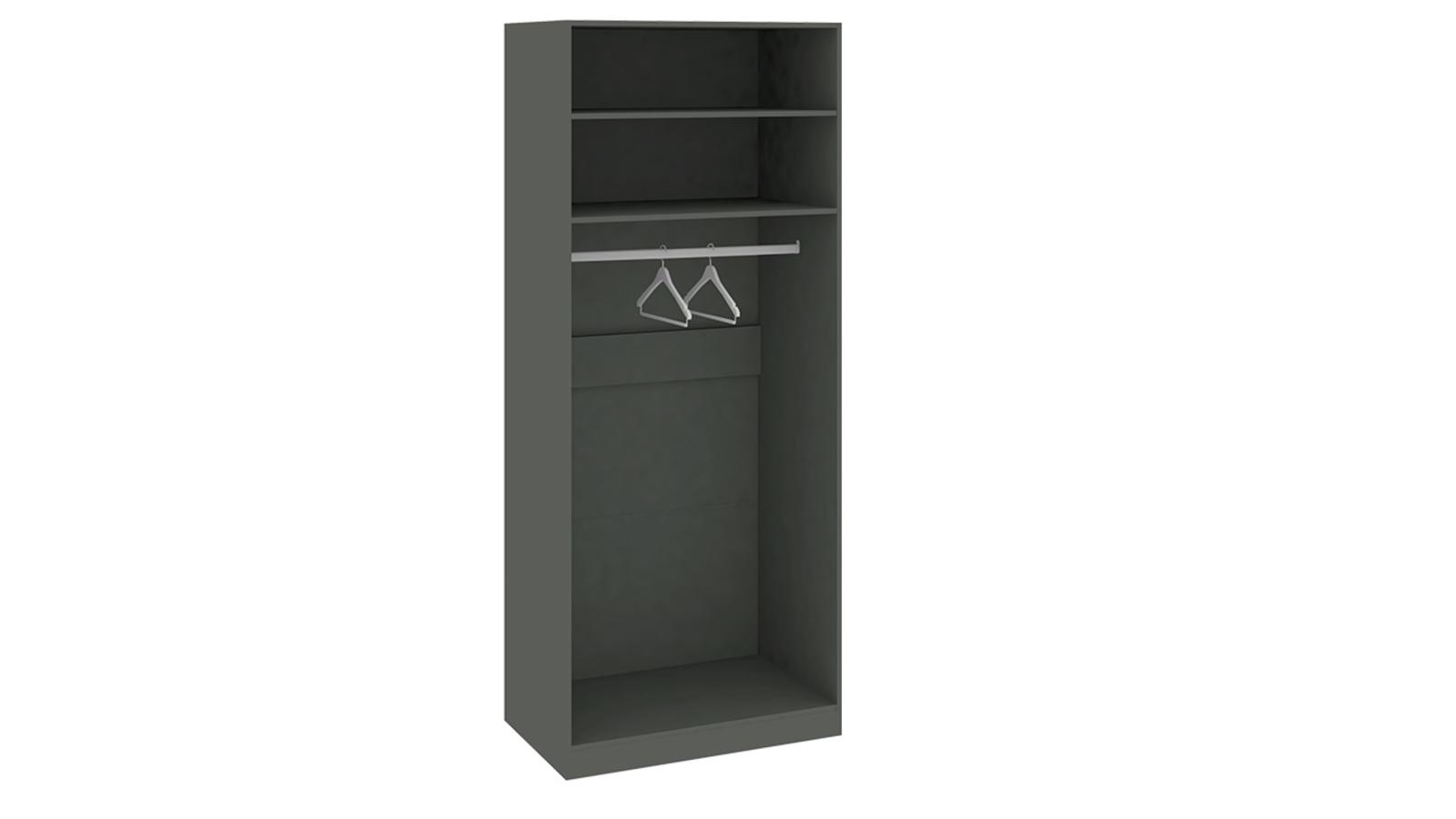 Шкаф распашной двухдверный Дели (серый/джут) от HomeMe.ru