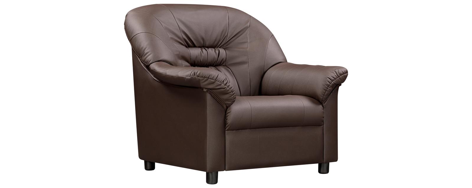 Кресло кожаное Честер Шоколадный (Натуральная кожа)