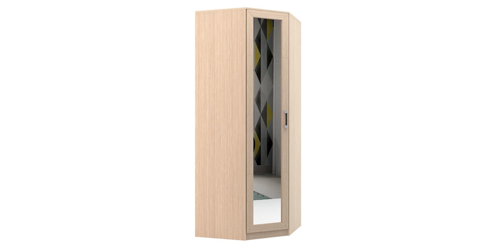 Шкаф распашной угловой Дельта (дуб белфорт/зеркало)