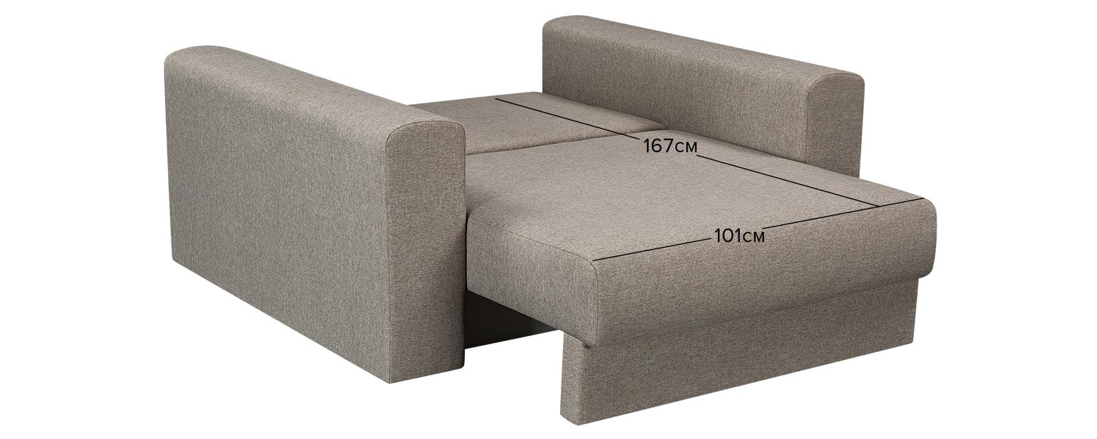 Кресло тканевое Медисон Вариант №1 100 см Kiton серый (Рогожка)