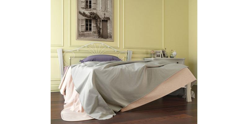 Металлическая кровать 140х200 Фортуна Лайт вариант №4 с ортопедическим основанием (белый/белый)