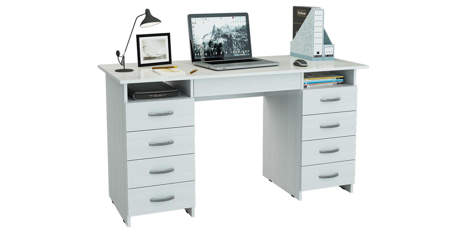 Письменный стол Харви вариант №6 (белый)