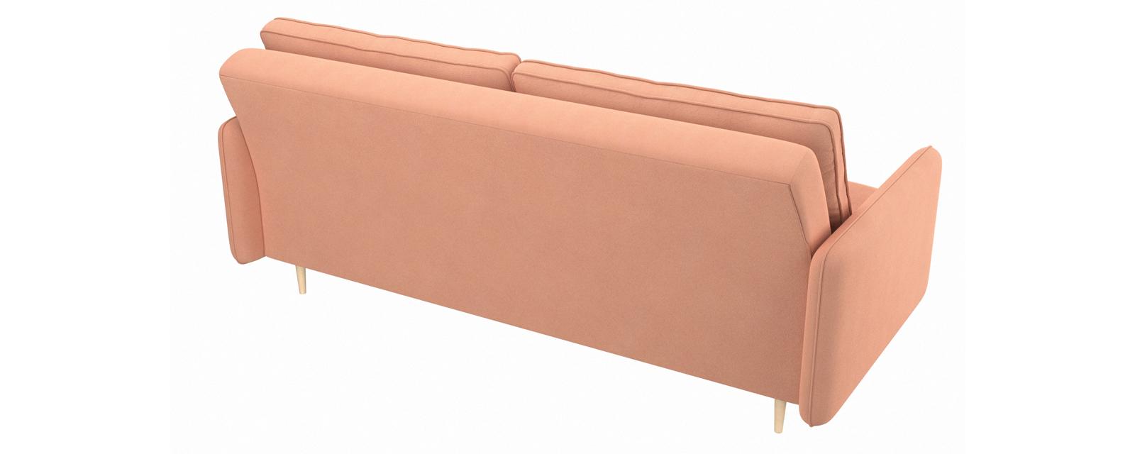 Диван тканевый прямой Голливуд Bjork розовый (Рогожка)
