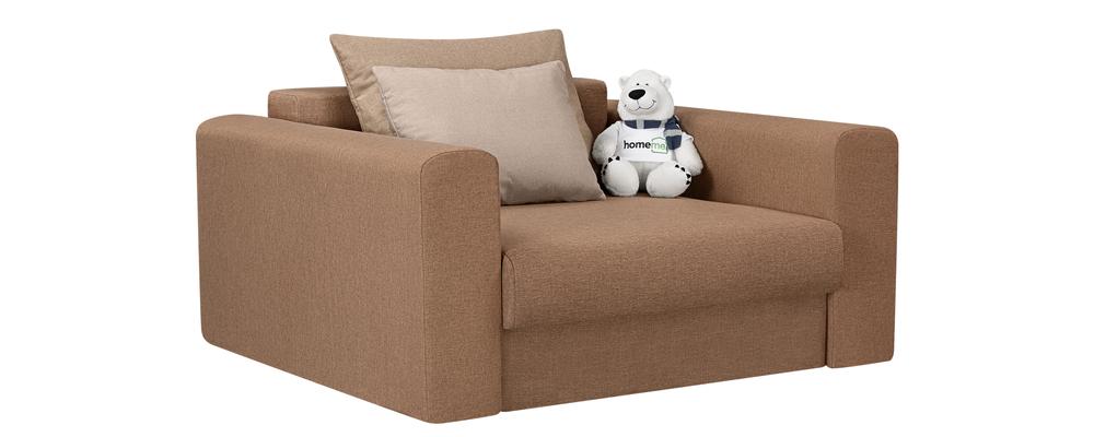 Кресло тканевое Медисон Вариант №1 100 см Kiton коричневый (Рогожка)