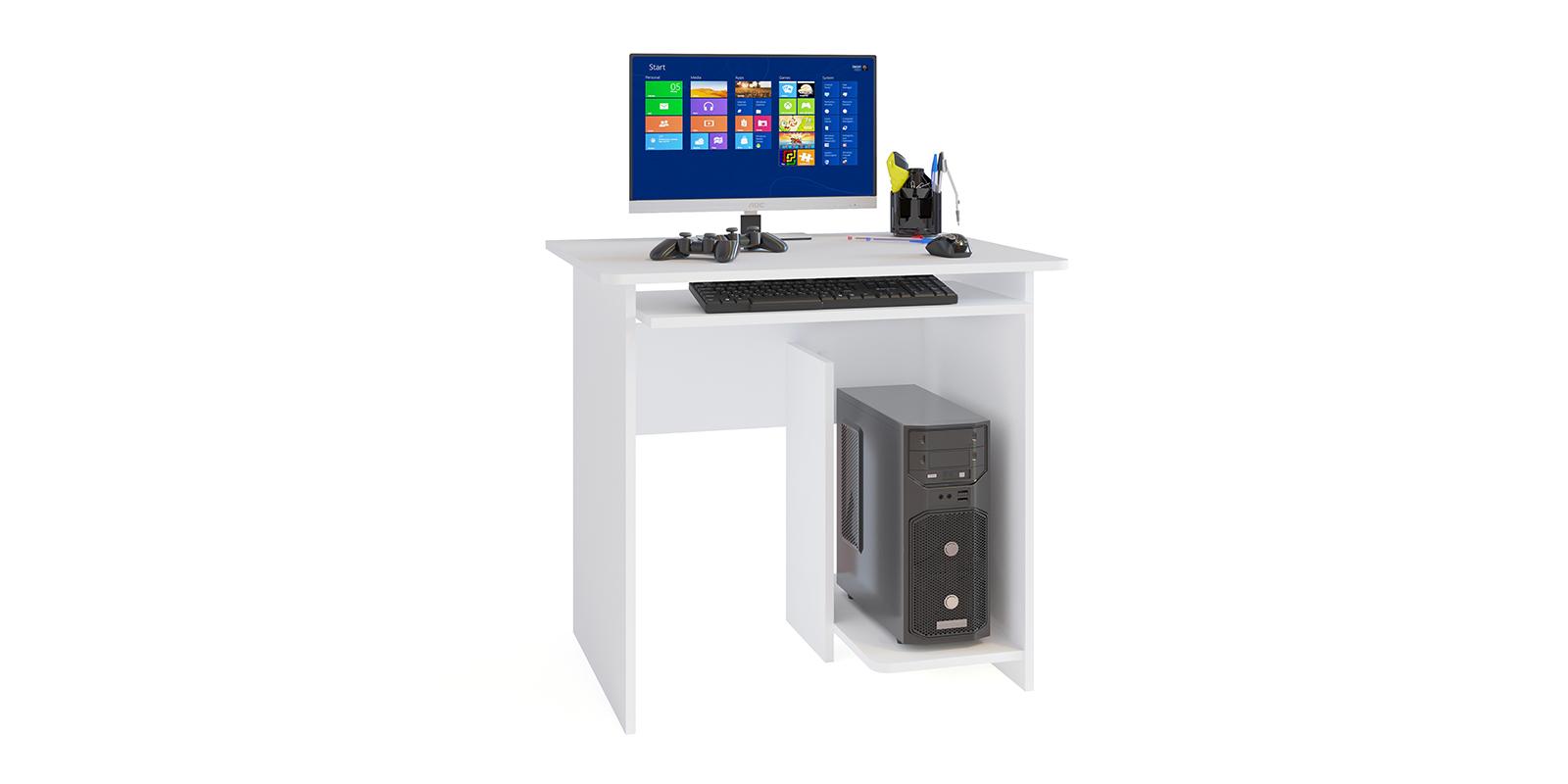 Стол компьютерный Сноу Стол компьютерный Сноу вариант №3 (белый)