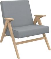 Кресло для отдыха Вест Натуральное дерево, ткань Fancy 85, кант Fancy 85