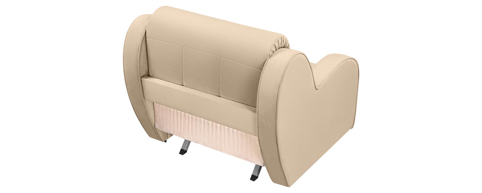 Кресло тканевое Барон Velure бежевый (Велюр)