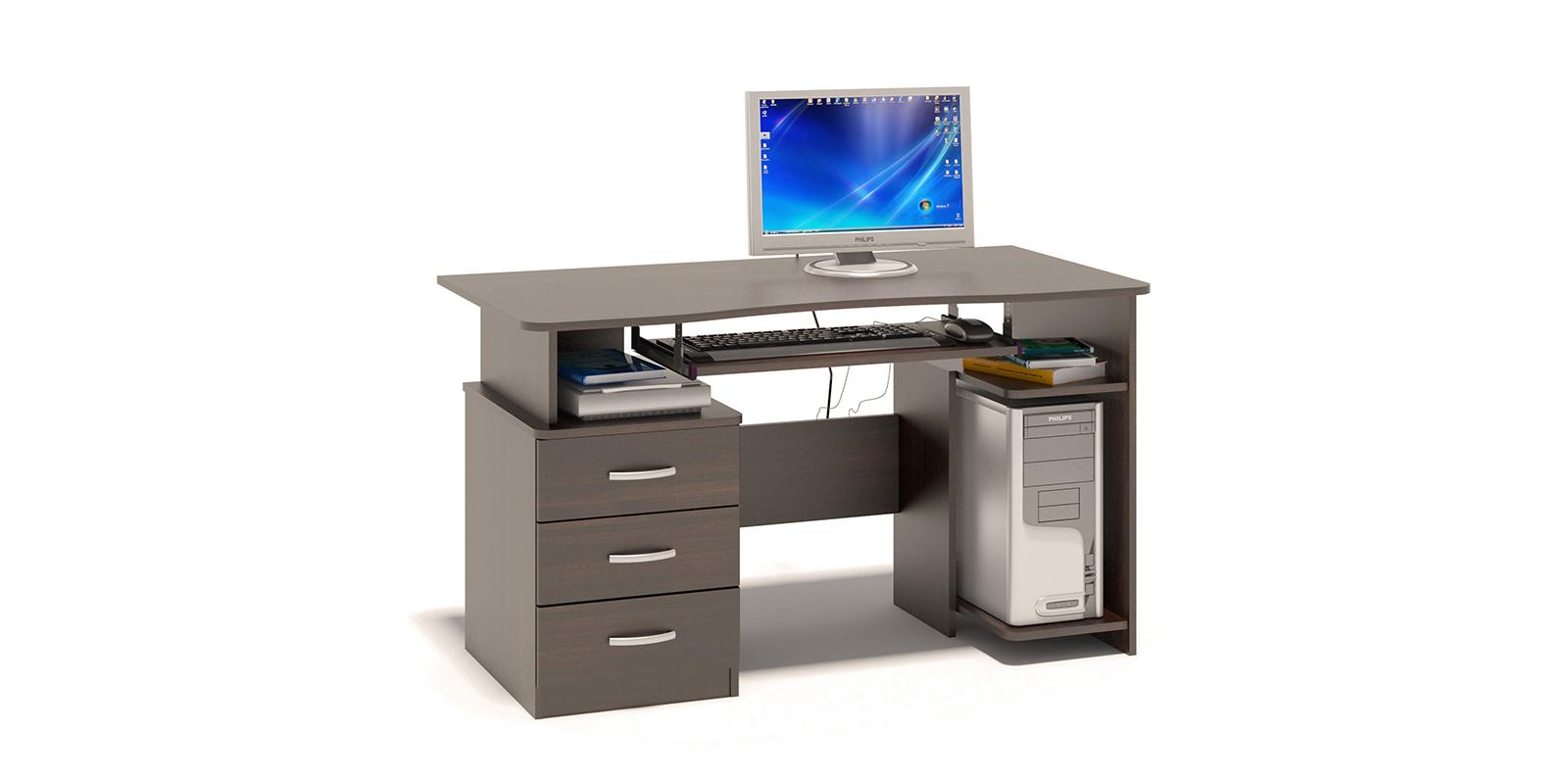 Стол компьютерный Рико вариант №2 (венге)