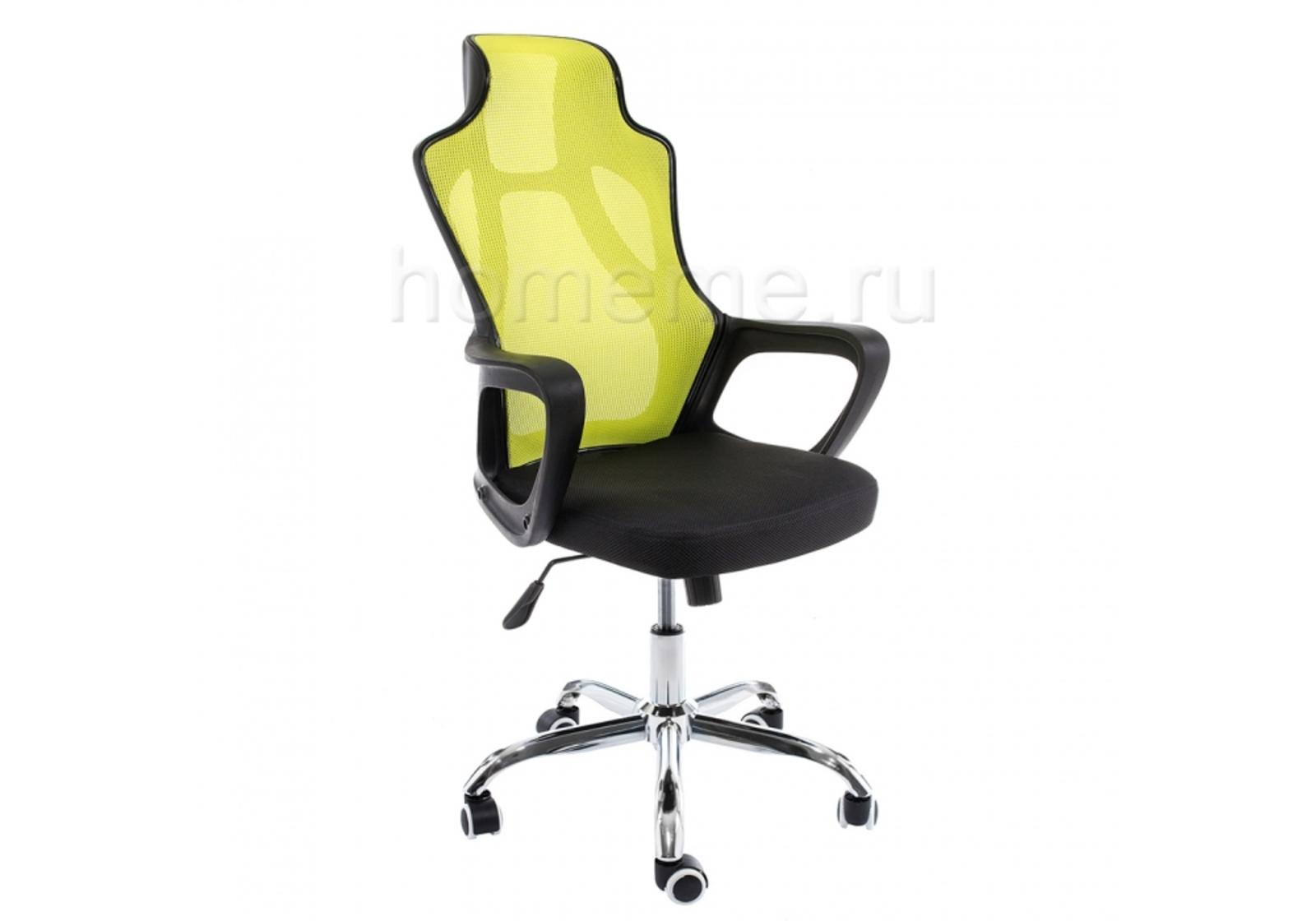 Кресло для офиса HomeMe Local черное / зеленое 1975 от Homeme.ru