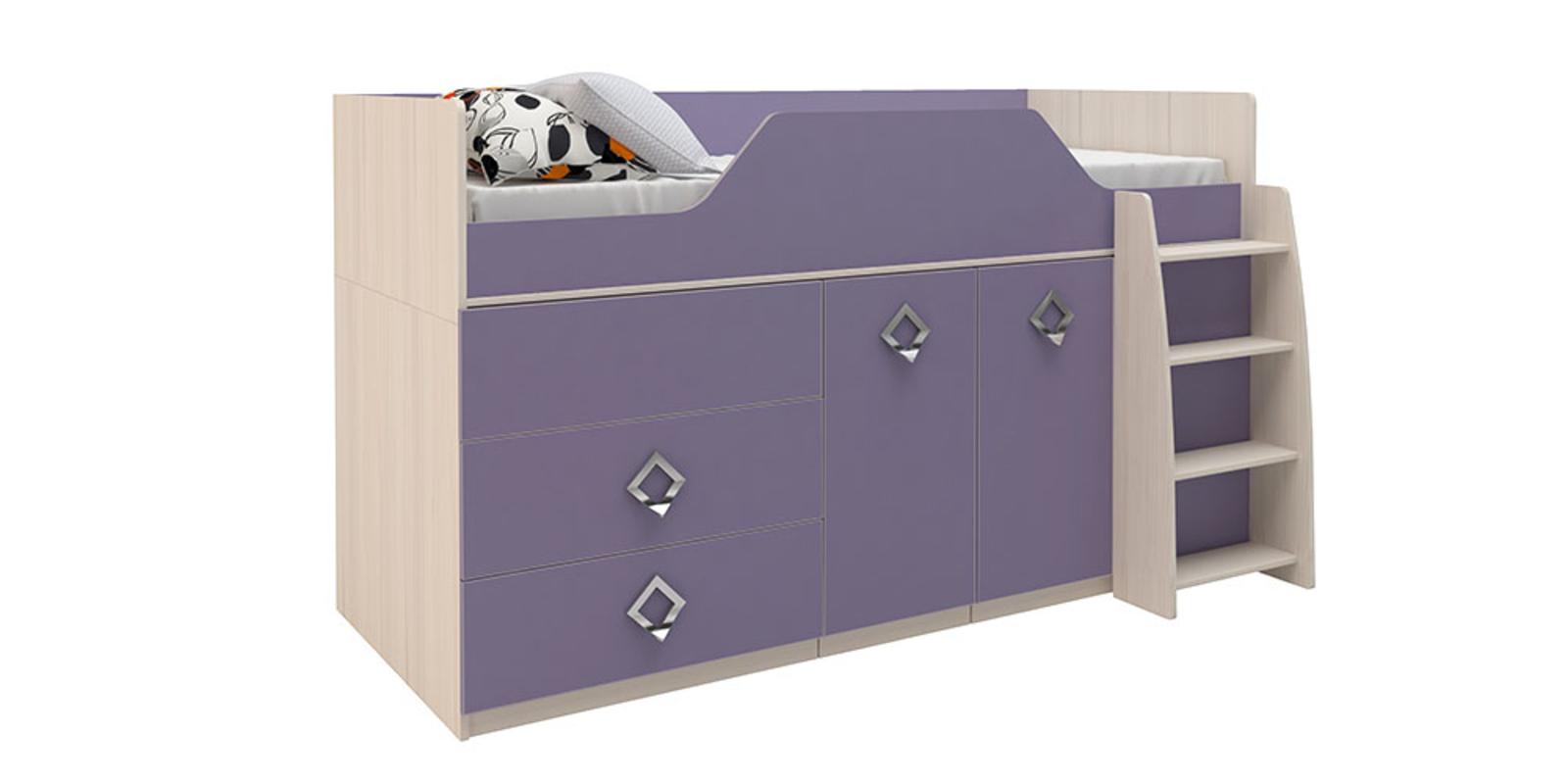 Кровать односпальная Салоу кровать-трансформер (каттхилт/лаванда)