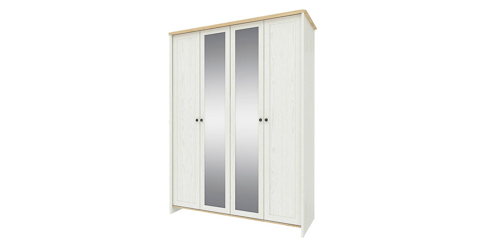 Шкаф распашной 4-х дверный Эстель (дуб небраска/белый)