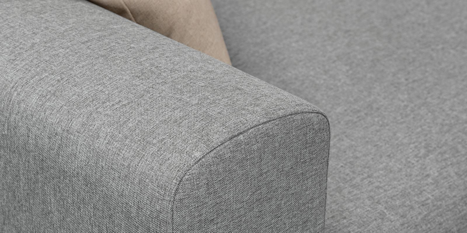 Модульный диван Медисон Вариант №2 Falcone серый (Рогожка)