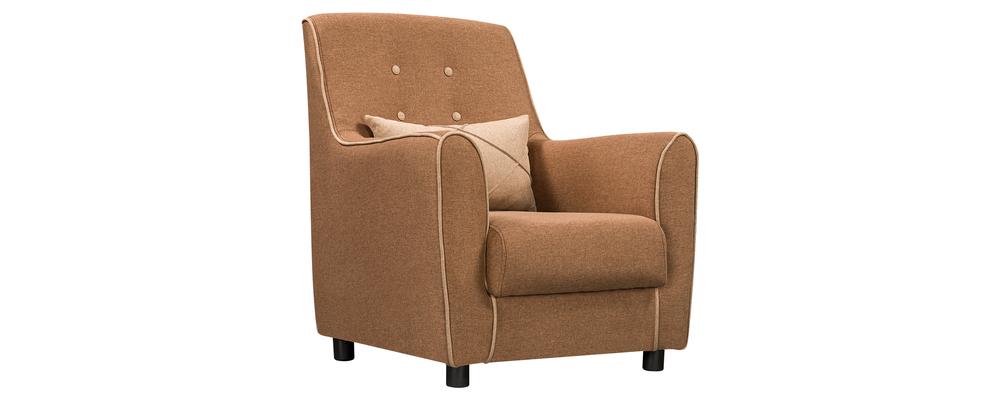 Кресло тканевое Флэтфорд Kiton коричневый/бежевый (Рогожка)
