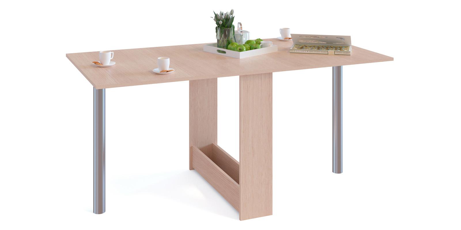 Обеденный стол Алмер (беленый дуб)