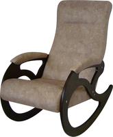 Кресло качалка Венера/Темный орех/Серо-коричневый ТОРОНТО 01
