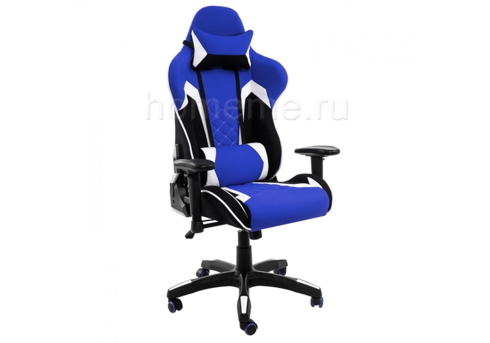 Кресло для офиса HomeMe Prime черное / синее 1860 от Homeme.ru
