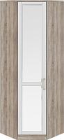 Шкаф угловой с 1-ой зеркальной дверью левый «Прованс»