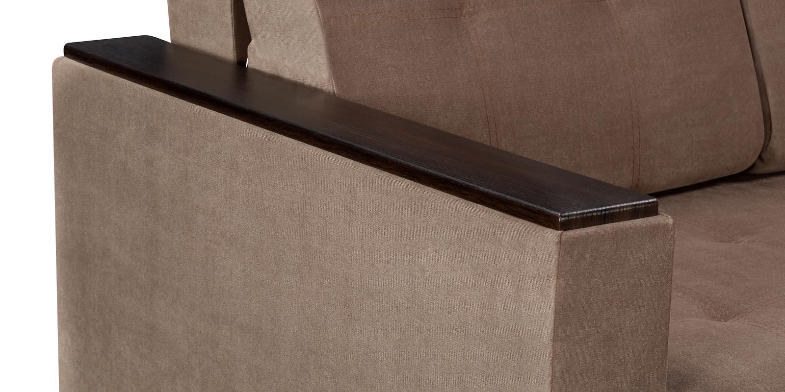 Диван тканевый прямой Атланта Dana светло-коричневый (Вельвет)