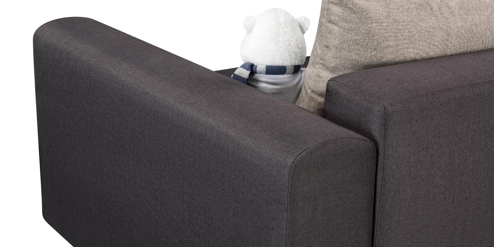 Кресло тканевое Медисон Вариант №2 80 см Kiton тёмно-серый (Рогожка)