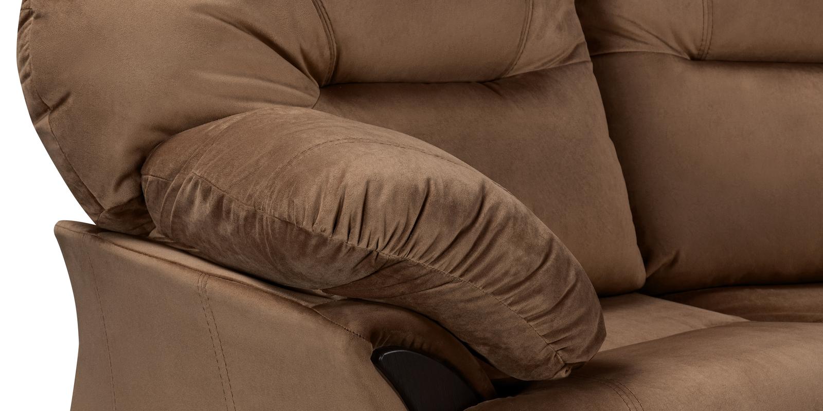 Диван тканевый угловой Ланкастер Velure коричневый (Велюр, левый)