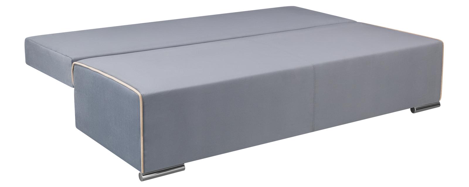 Диван тканевый прямой Лиссабон Velutto серый (Велюр)