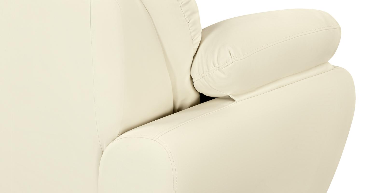 Диван тканевый прямой Эвита Luxe молочный (Экокожа)