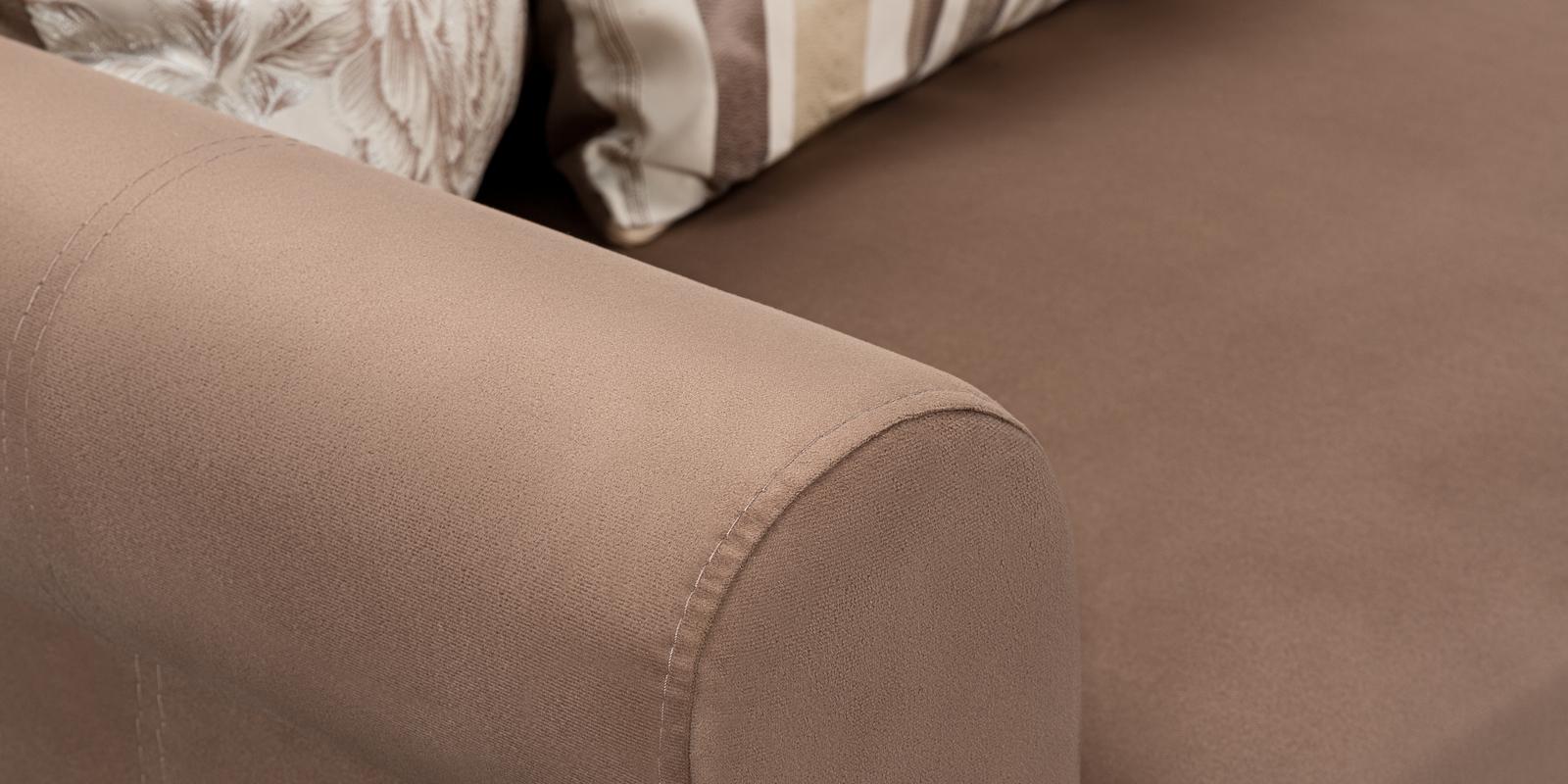 Диван тканевый угловой Рейн Velure коричневый (Велюр)