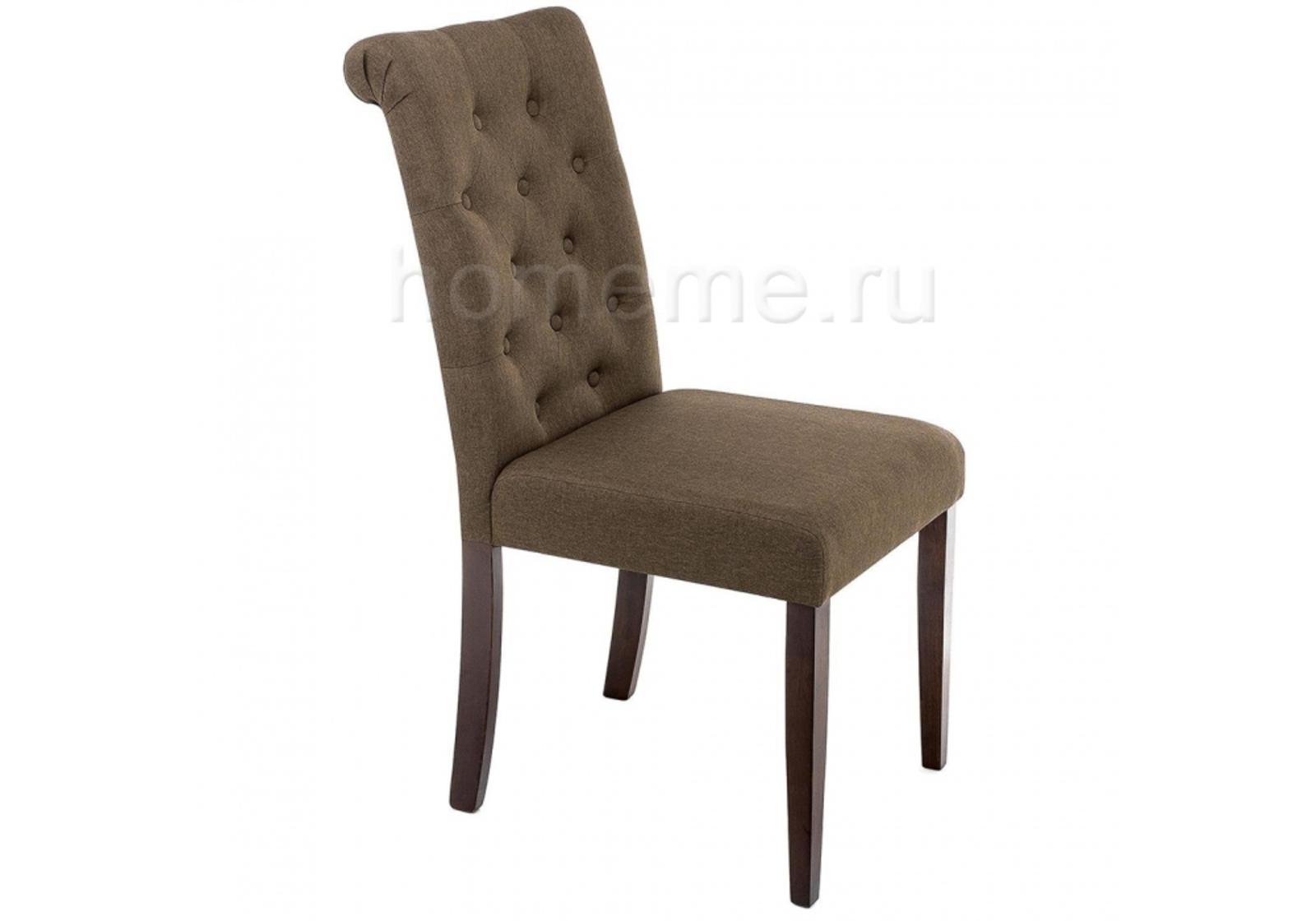 Стул HomeMe Amelia dark walnut / fabric brown 11018 от Homeme.ru