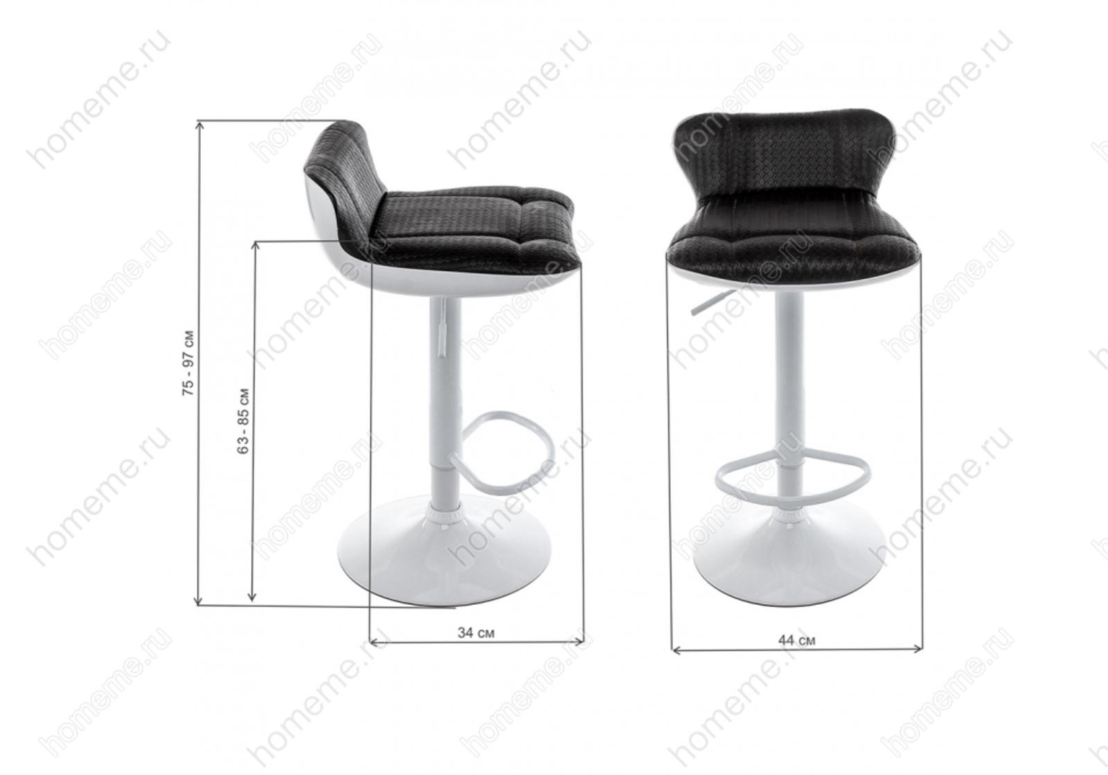 Барный стул Domus белый / черный 1934 Domus белый / черный 1934 (13904)