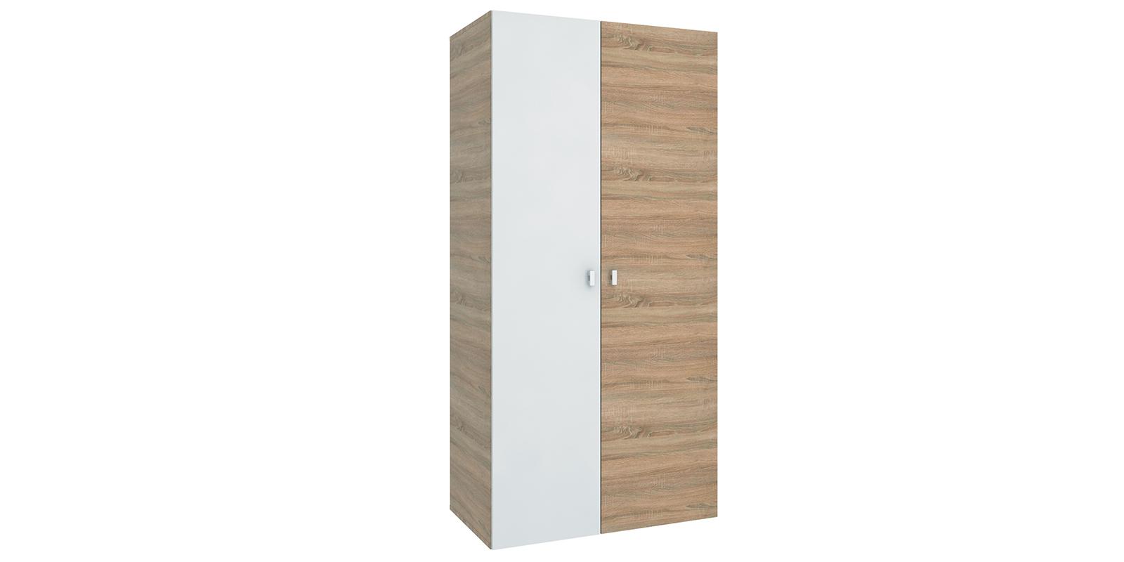 Шкаф распашной двухдверный Лакки вариант №1 (дуб сонома/белый)