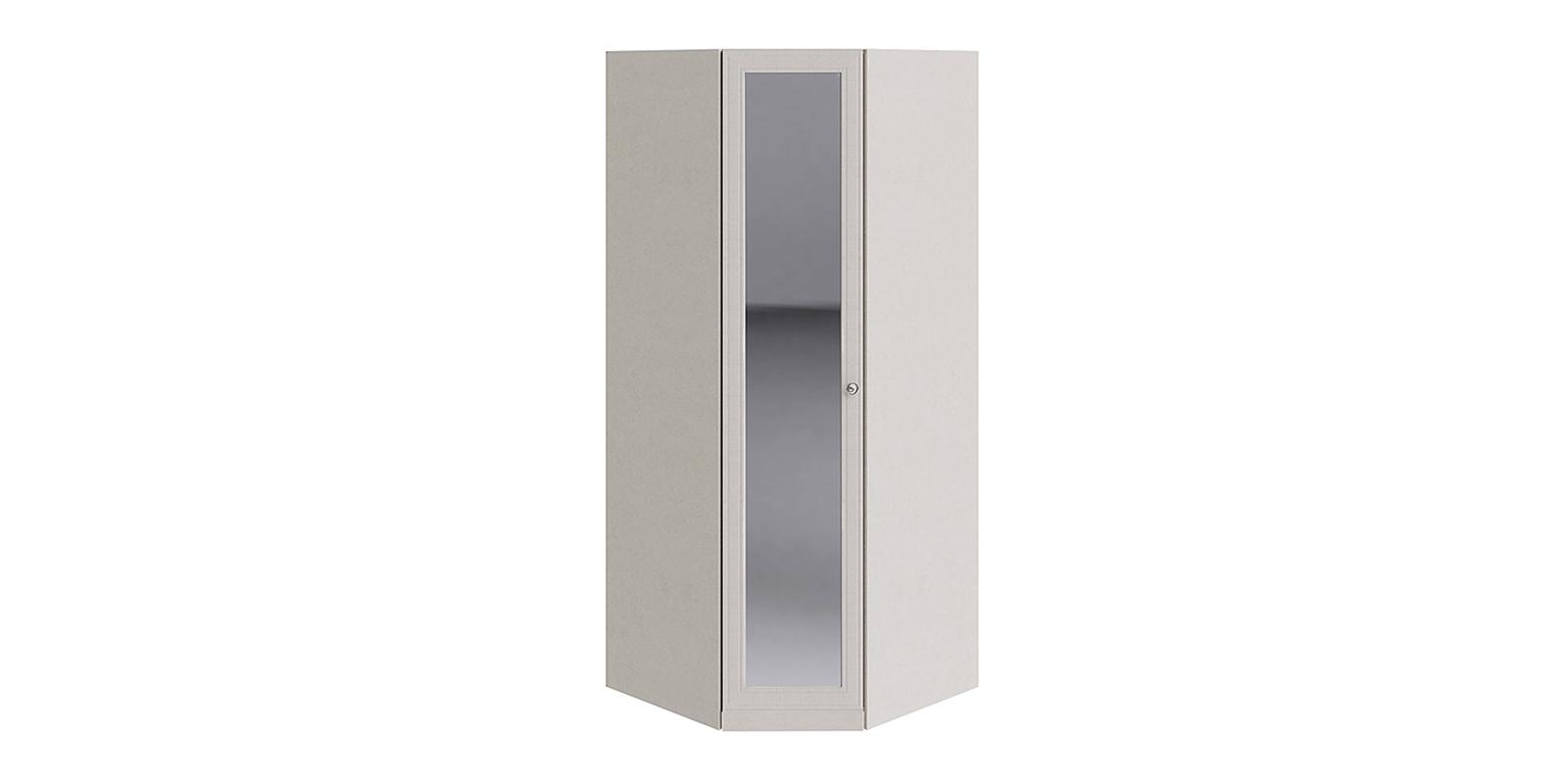 Шкаф распашной угловой Лацио вариант №2 (бежевый/зеркало)