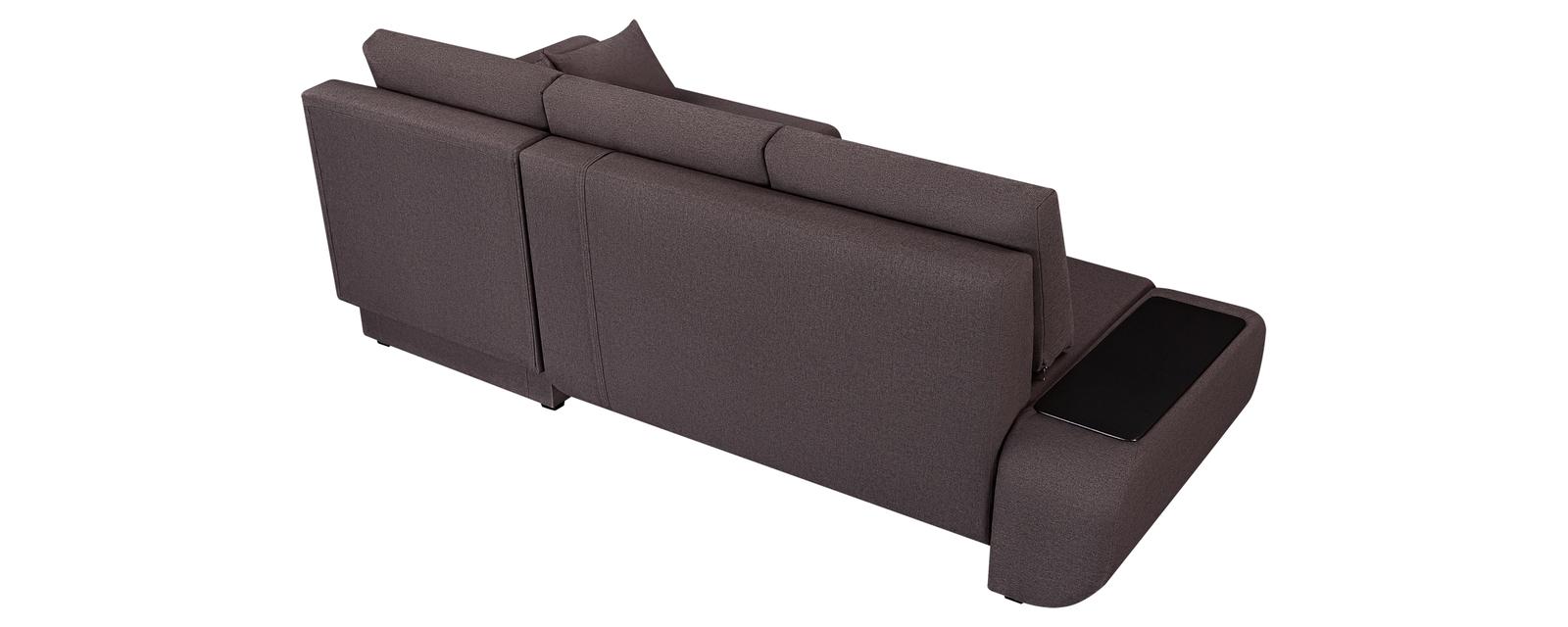 Диван тканевый угловой Нью-Йорк Concept тёмно-коричневый (Рогожка)