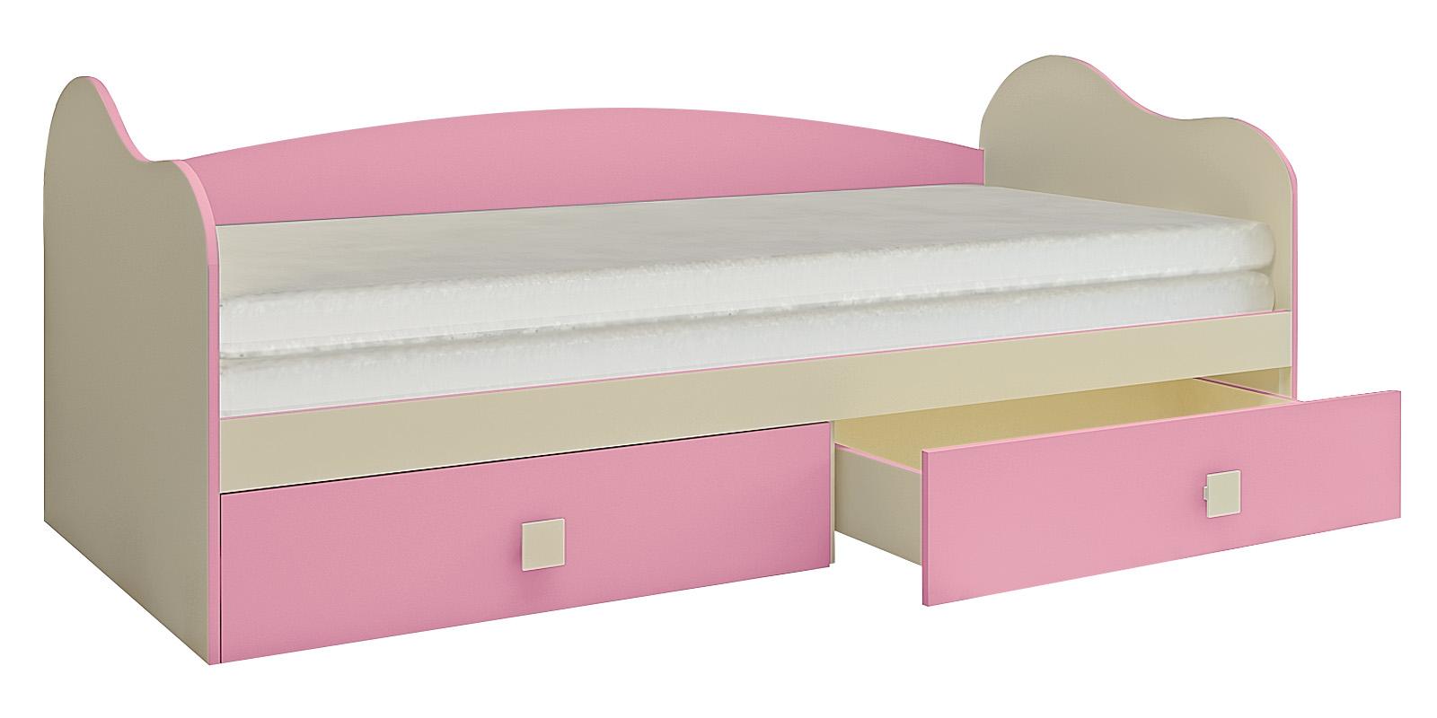 Кровать односпальная Нова вариант №2 (бежевый/розовый)