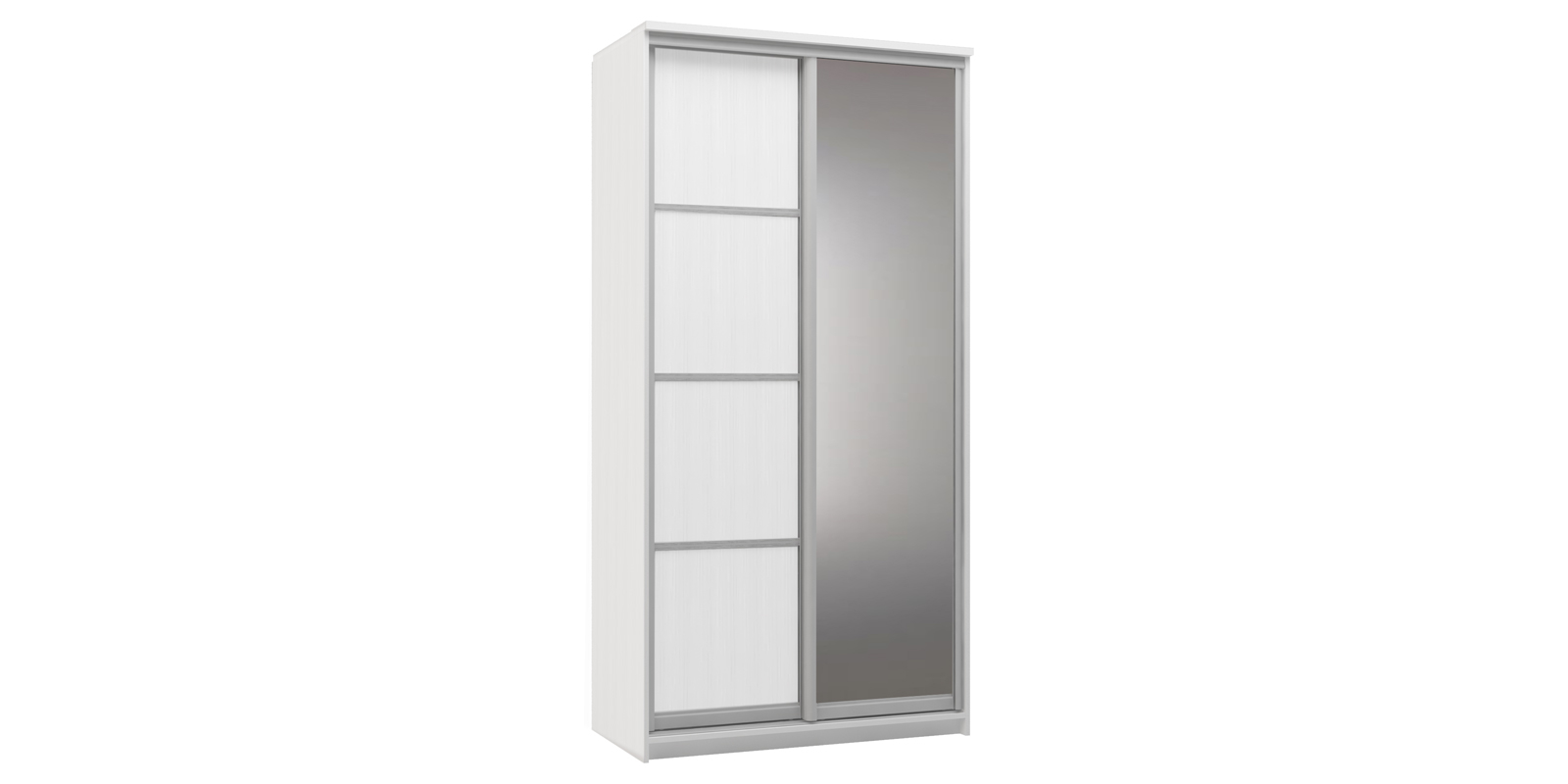 Шкаф-купе двухдверный Верона 120 см (белый/зеркало) Верона
